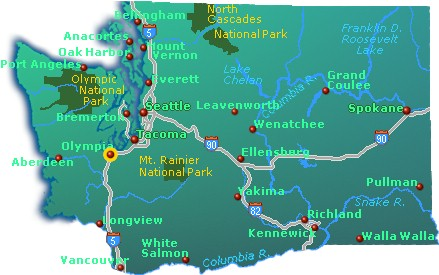 Head east on highway 2 and you're on your way! Washington State Map Go Northwest A Travel Guide