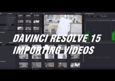 Tutorial Davinci Resolve 15 Part 2 – Importing footages/videos