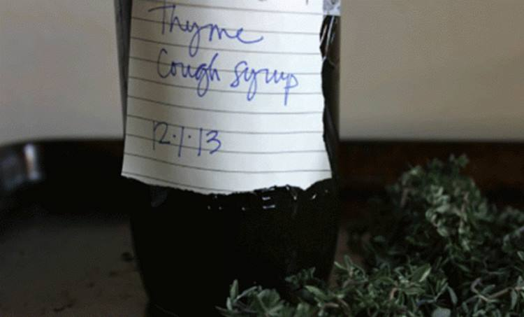 Ginger Thyme Cough Syrup