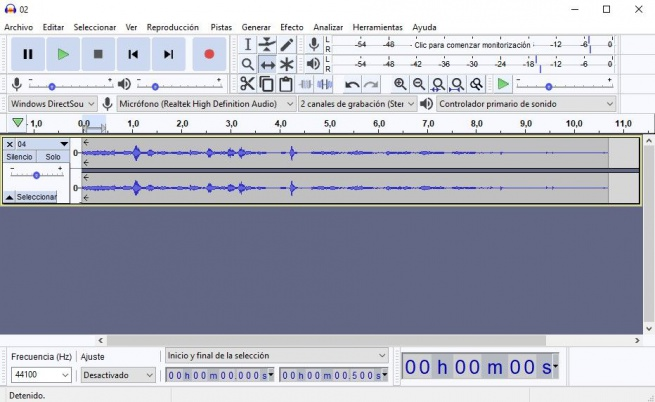 Audacity Fade in out 00