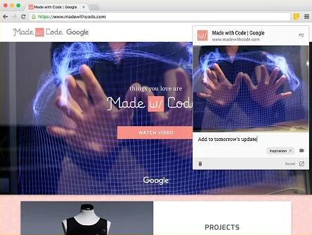 Google Keep更新,推出Chrome扩展可保存链接至便签