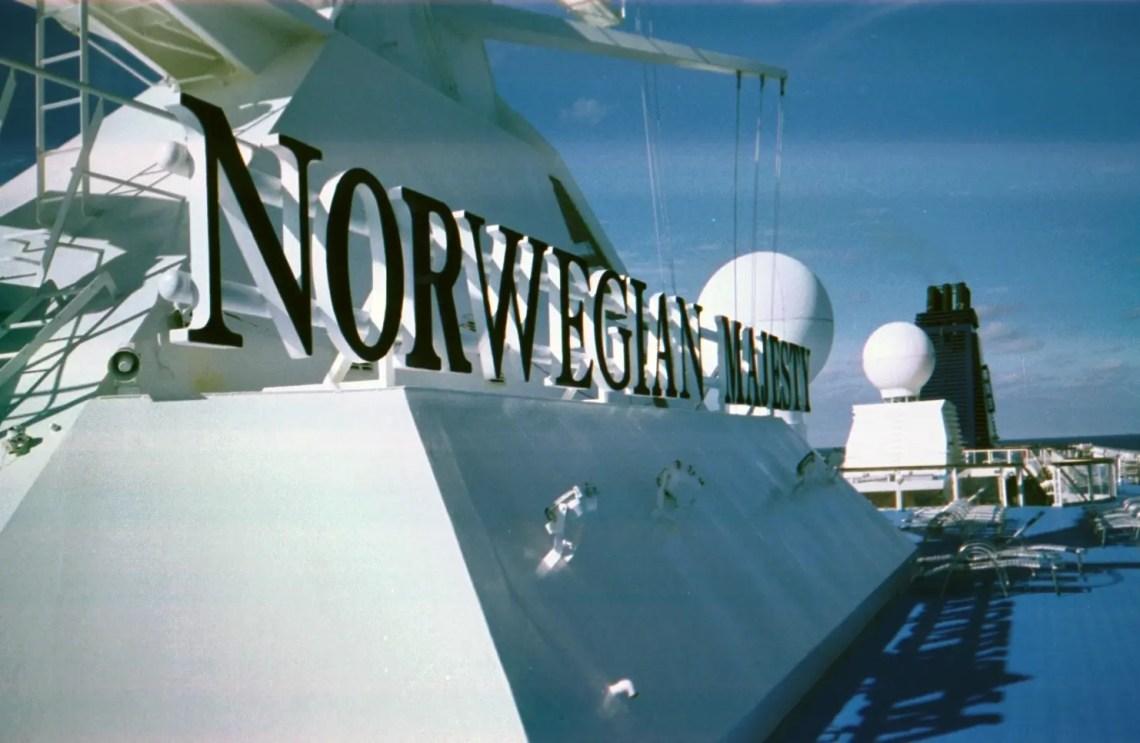 Øvre dæk på Norwegian Majesty
