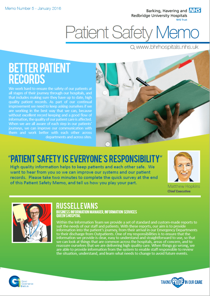 Patient Safety Memo 5