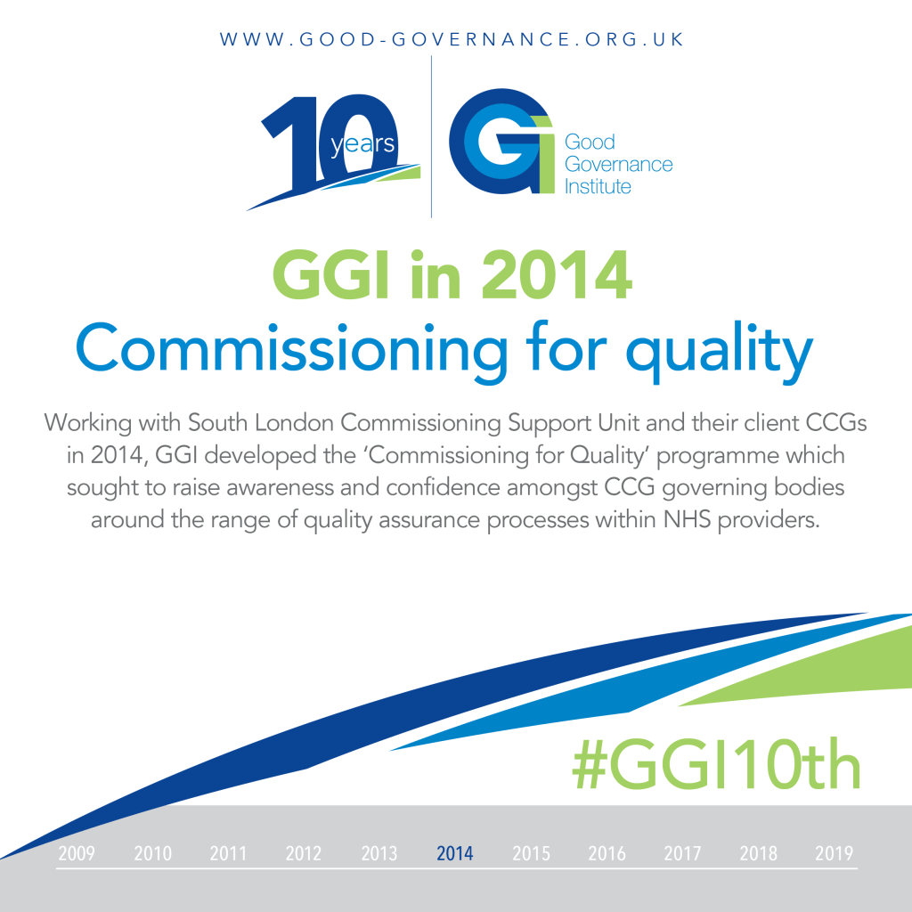 GGI10th - GGI in 2014 Commissioning for quality