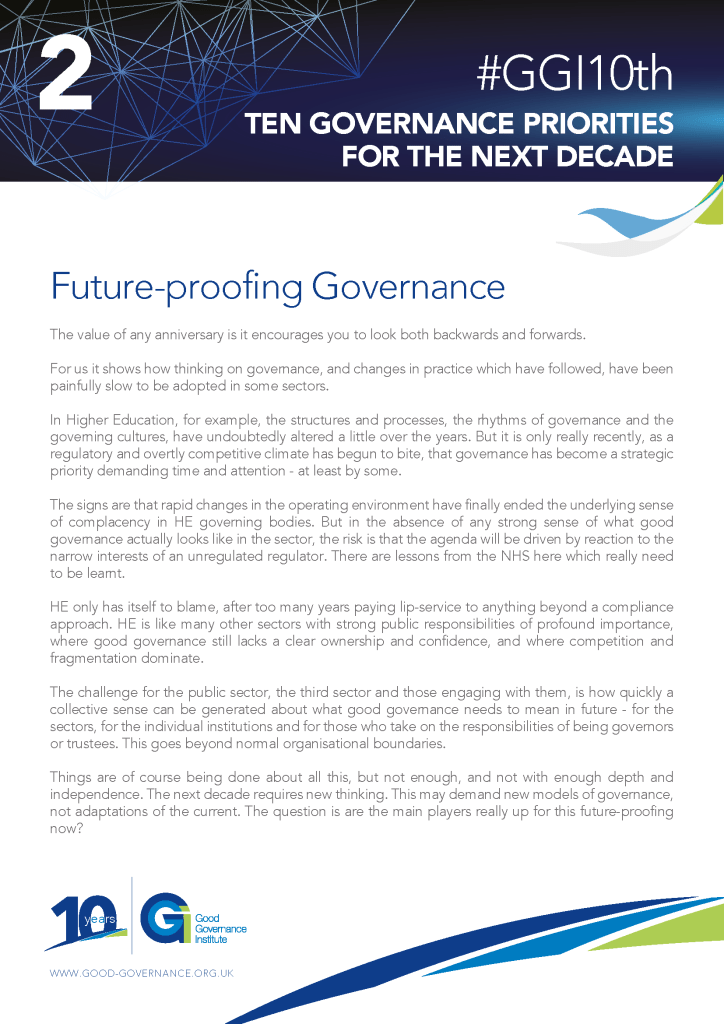 GGI10th - Ten governance priorities for the next decade - Priority 2 - Futureproofing