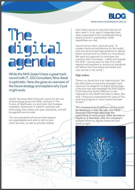 The Digital Agenda - Nina Atwal - Good Governance Institute