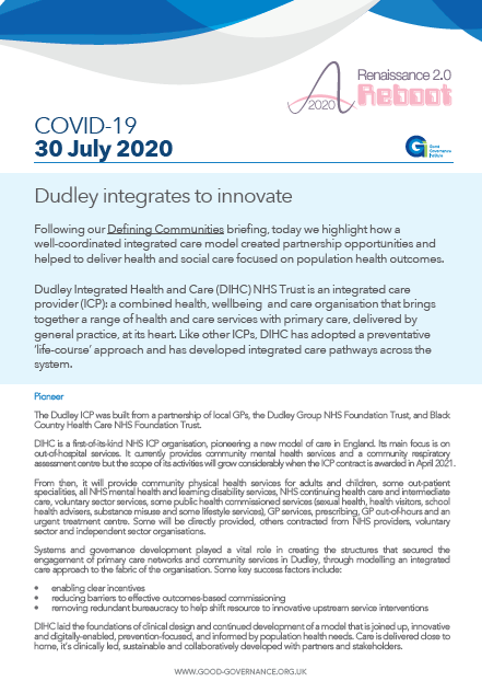 Dudley integrates to innovate