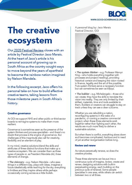 The creative ecosystem