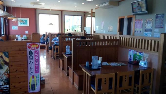 Inside in Nakachi soba restaurant