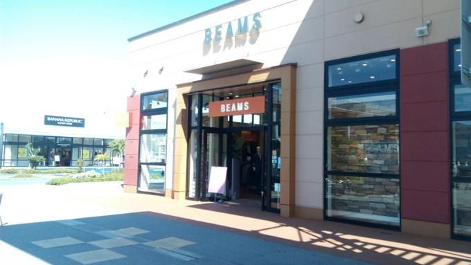 アウトレットモールあしびなーのBEAMS店