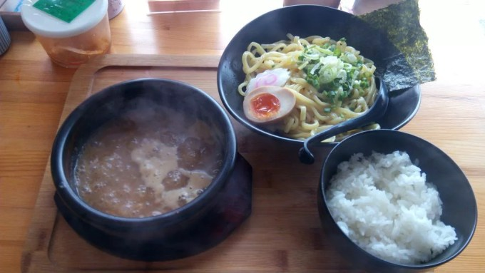 Tsukemen of Menya Takedora with rice
