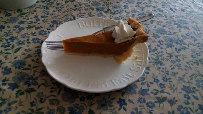 The Rose garden handmade pumpkin pie