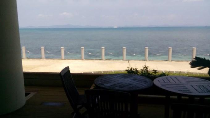 レストランあやはしから見た沖縄のきれいな海