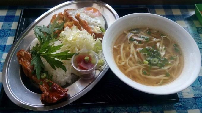 A lunch of Koura shokudou