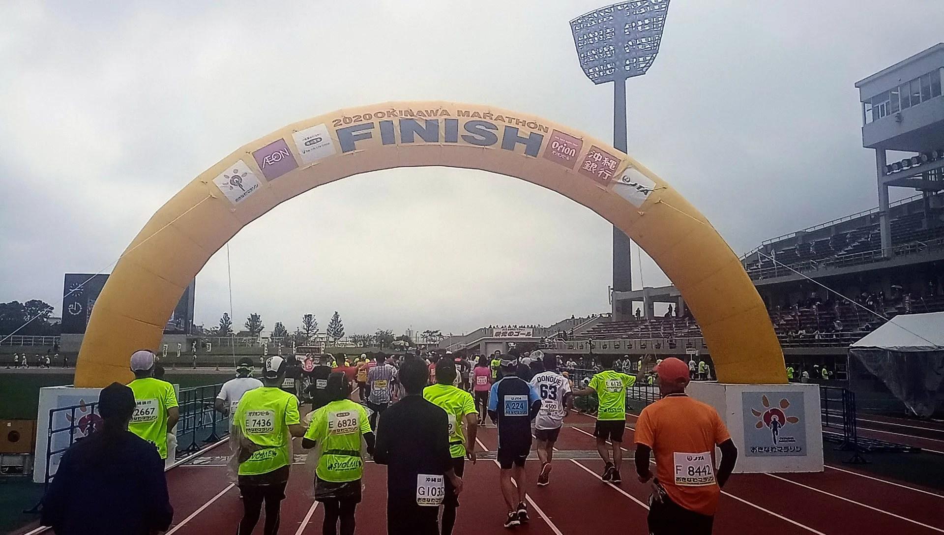 the Okinawa Marathon goal