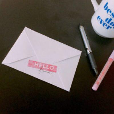 DIY Friendship Card Sample Folded