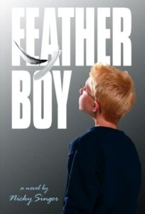 Feather Boy, Nicky Singer, Book Cover, Glasses, Blonde