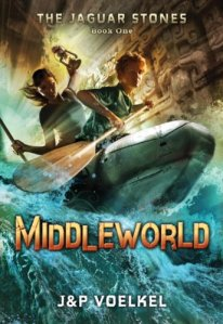 Middleworld, J and P Voelkel, Book Cover, Jaguar Stones