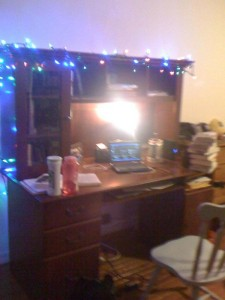 Christmas Lights Desk
