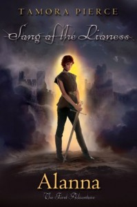 Alanna The First Adventure, Book Cover, Tamora Pierce, Looks Like Fire Cover by Kristen Cashore, Sword