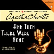 And Then There Were None, Audiobook cover, Agatha Christie