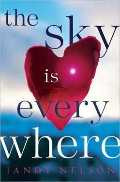 The Sky Is Everywhere, Jandy Nelson, Book cover, heart, blue