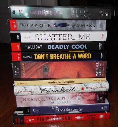 My Potential Readathon books