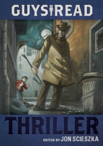 Guys Read Thriller Jon Scieszka Book Cover, trench coat, hat