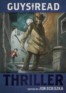 Guys Read Thriller Jon Scieszka Book Cover, trench coat, hat