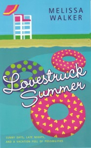 Lovestruck Summer, Melissa C Walker, Book Cover, Inner tubes, beach