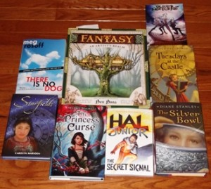 In My Mailbox, Books, Library Books, Review books, cybils