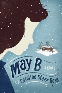 May B, Book Cover, Caroline Starr Rose, Snow, Blue