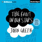 The Fault In Our Stars, John Green, Audiobook Cover, Brilliance Audio, Blue,