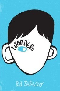 Wonder RJ Palacio Book Cover, Blue, One Eye