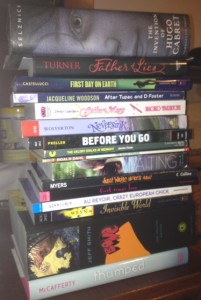 Readathon Stack April 21 2012