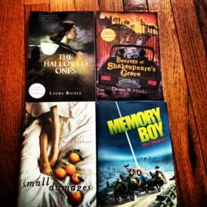 books pile