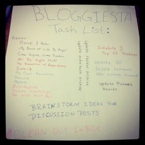 Bloggiesta Task List