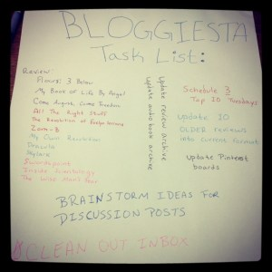 Bloggiesta Task List