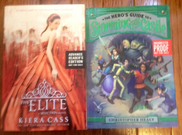 The Elite by Kiera Cass and The Hero's Guide To Storming The Castle by Christopher Healy | Good Books And Good Wine