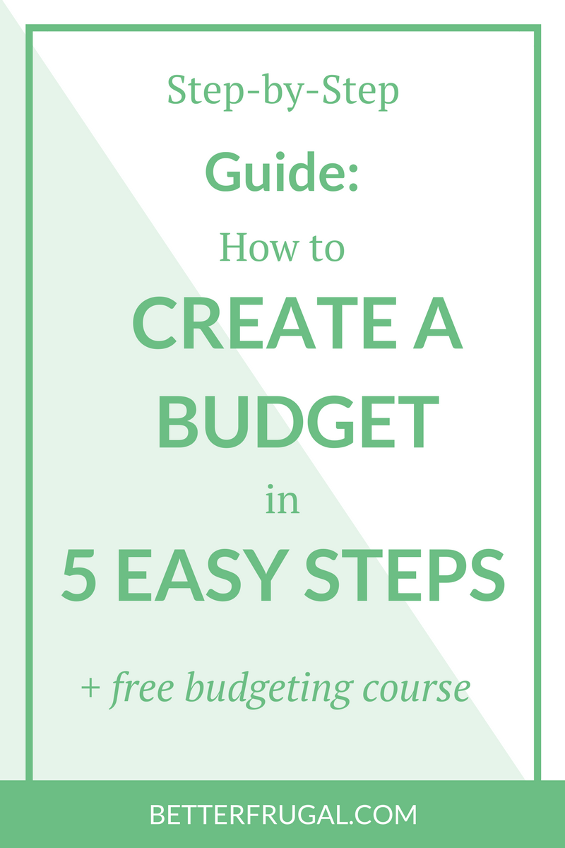 how to create a budget | pay off debt | free budgeting course