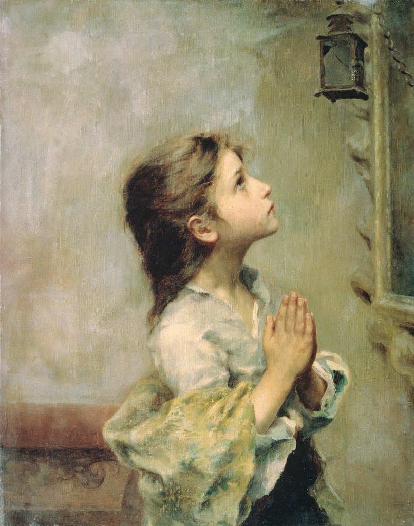 Girl Praying, by Roberto Ferruzzi