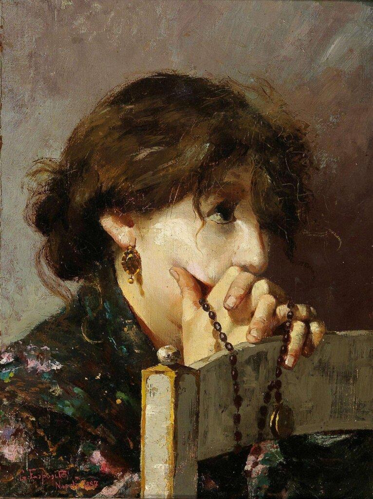 Woman Praying, by Gaetano Esposito