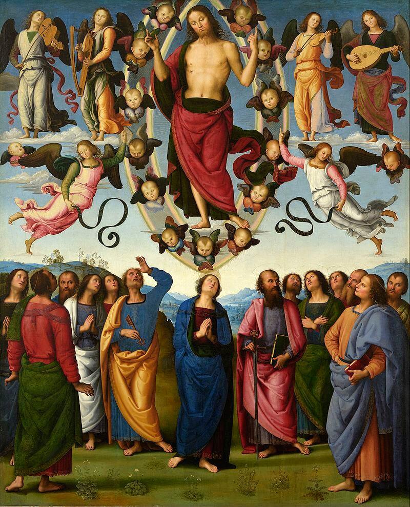 The Ascension by Pietro Perugino
