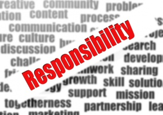Responsibility word cloud