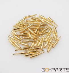 gold plated brass pins turrets for 8pin tube socket kt88 gz34 el34 type 2 [ 1000 x 1000 Pixel ]