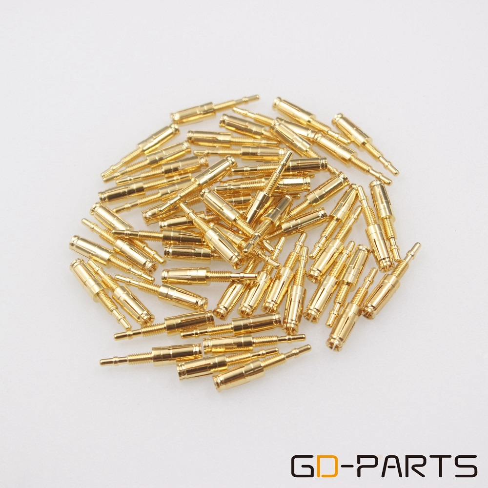 hight resolution of gold plated brass pins turrets for 8pin tube socket kt88 gz34 el34 type 2