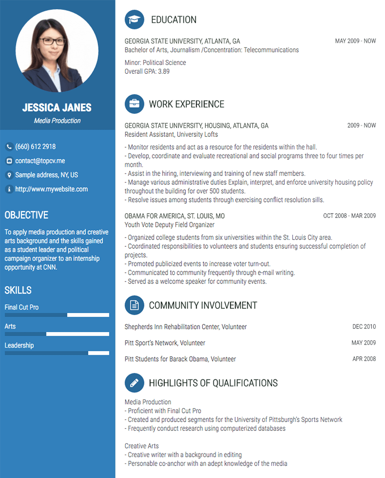 How to build a resume for your first job. Professional Cv Resume Builder Online With Many Templates Goodcv Com