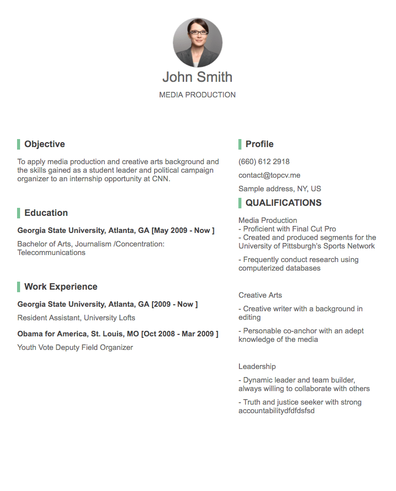 The best resume style to use depends on how much employment history you have and what kind of job. Professional Cv Resume Builder Online With Many Templates Goodcv Com
