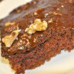 Chocolate Walnut Brownie Cake