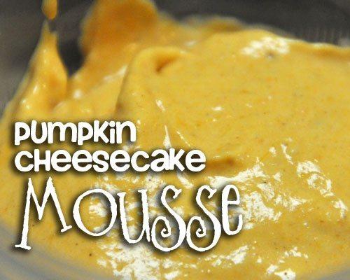 Pumpkin Cheesecake Mousse
